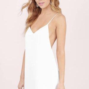 backless white tobi slip dress size S